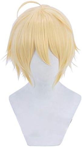 コスプレウィッグ 山姥切国広 ウィッグ かつら 高温耐熱 コスプレ cosplay wig ブラック イエロー