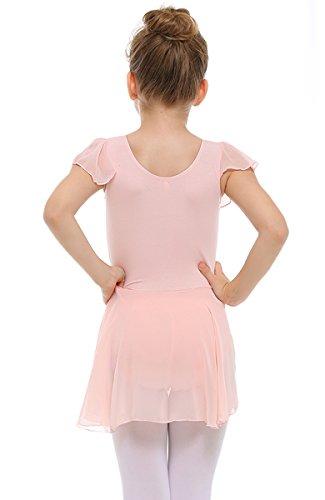 ec9dc9e56 STELLE Girls  Ruffle Short Sleeve Tutu Skirted Ballet Dress Leotard ...