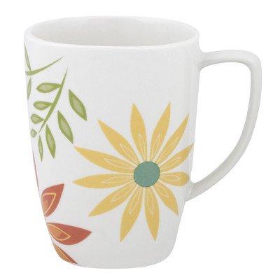 Corelle Square 12-Ounce Porcelain Mug, Happy Days (Coffee Cup Corelle)