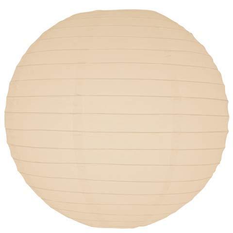 Ivory Round Paper Lanterns-24 - Eyelet Lanterns Rice Paper