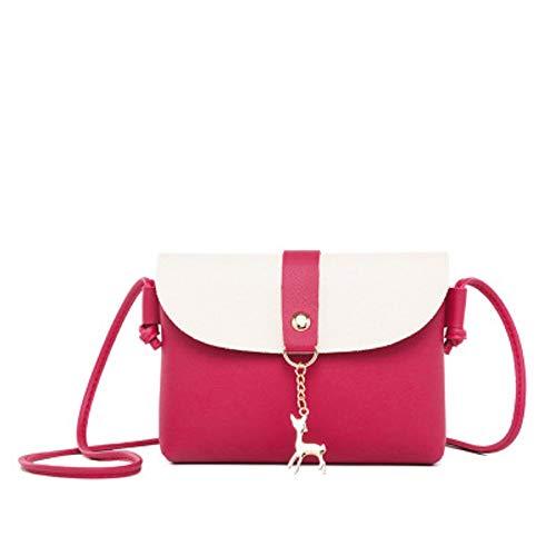 Rouge Main Mode Sac Frais à Contraste Simple léger bandoulière carré Portable Sac Petit à ZHRUI Femmes étanche Sacs littéraires 1UpOgq