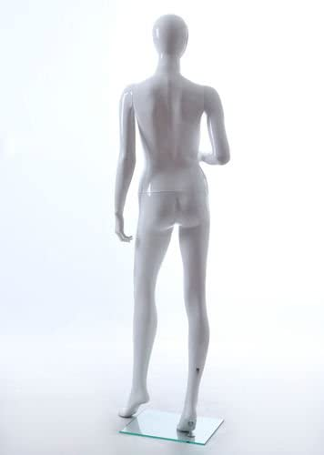 34 Torso Women/'s  Mannequin with Included Stand #TFWEGS Female Torso Mannequin Glossy White Egg-Head Display