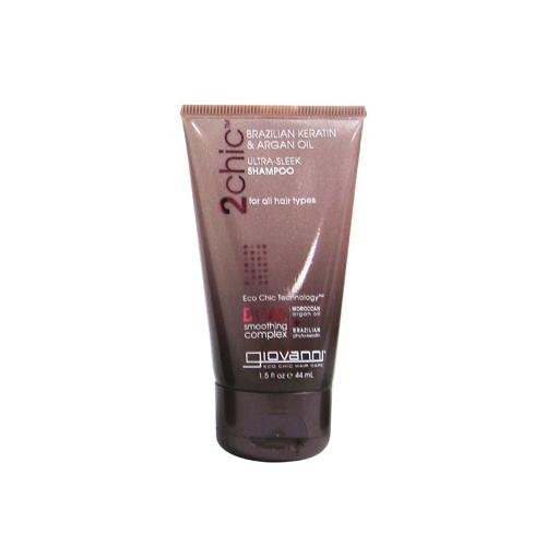 2 Packs of Giovanni Hair Care Products Shampoo - 2chic Sleek - Travel Size - Case Of 12 - 1.5 Oz
