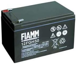 Fiamm Battery Series FGH 12V Emergency Power Supply UPS Connection Faston 187 Flat 4.8mm 12FGH23 Amperaggio 5 Ah