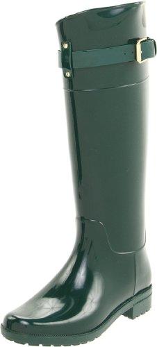 Lauren Ralph Lauren Women's Rossalyn II PVC Rain Boot,Hunter Green,8 B US