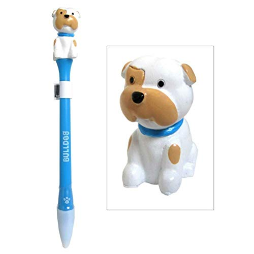 Ky & Co YesKela Bulldog Figurine Topper Pen Blue Ink