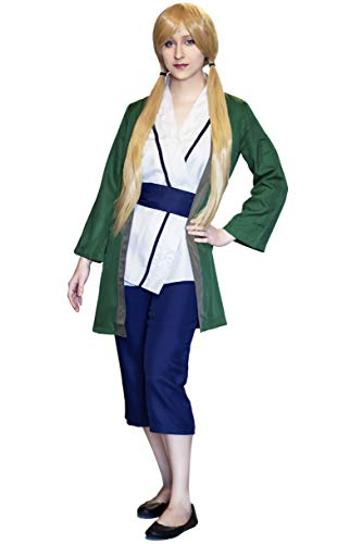 DAZCOS Adult US Size Anime Kimono Tsunade Cosplay Costume (Women Small) Green (Naruto Orochimaru Cosplay Wig)