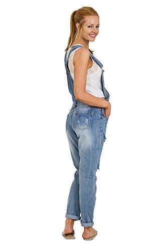 De Abrasi Dungarees Mujer Peto Denim Regular Sian Detalle Apenadas Moda Stone Wash qwXIaXn1f