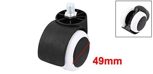 eDealMax 12 mm Largo 10 mm Diámetro del vástago roscado 49 mm Diámetro de Metal Silla de ruedas Caster: Amazon.com: Industrial & Scientific