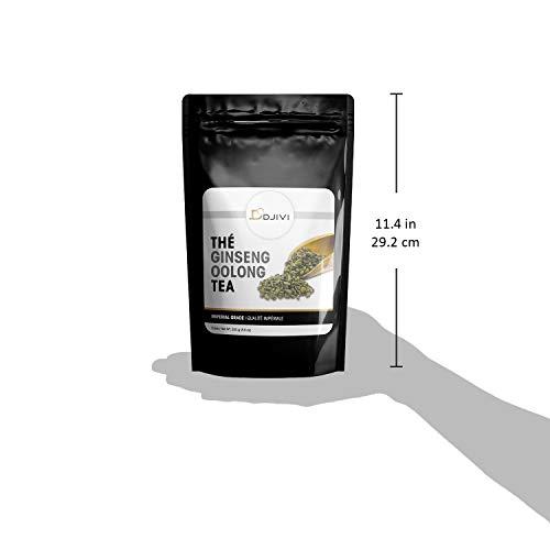 Dodjivi Ginseng Oolong Tea Loose - Leave Tea Wu Long Premium Specialty Wellness Tea Bulk Bag -250g (8.8 oz)