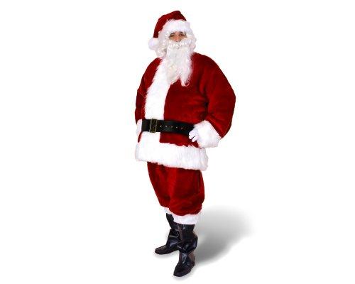Sunnywood Men's Premium Santa Claus Suit, Red/White, 3X-Large