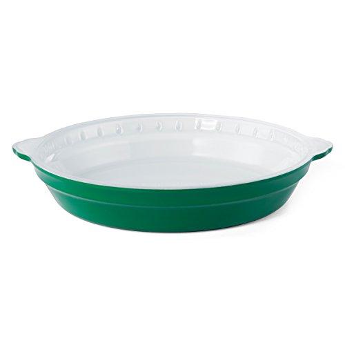 Green Pie Pan - Creo SmartGlass Cookware, 9-inch Pie Pan, Bali Green