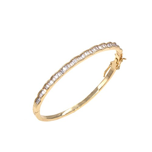 Lavencious Luxury Bangle Bracelet Evening Party Bling Gold Plated Elegant Design Jewelry 7