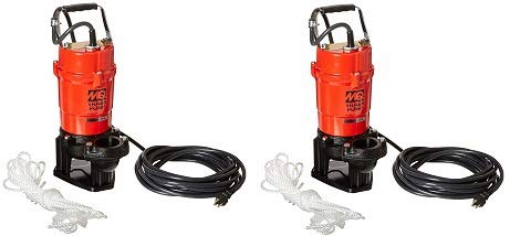 Multiquip ST2040T Electric Submersible Trash Pump with Single Phase Motor, 1 HP, 79 GPM, 2