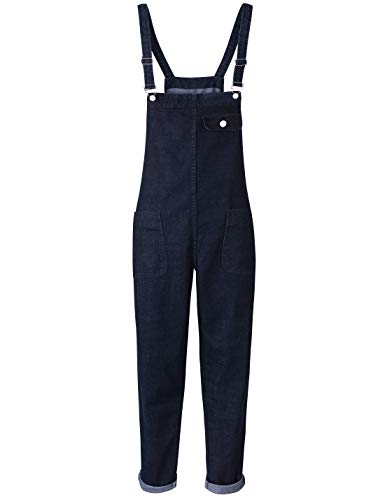 (Yeokou Women's Casual Denim Cropped Harem Overalls Pant Jeans Jumpsuits (Small, Black) )