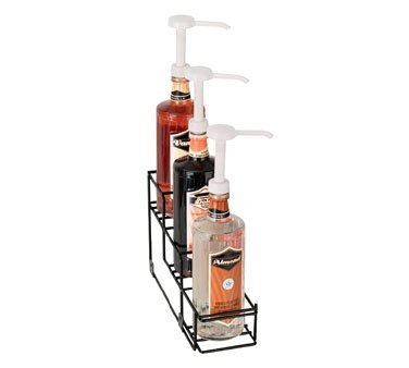 Dispense-Rite WR-BOTL-3 Three Compartment Wire Bottle Holder