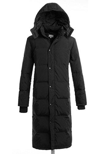 Discount Aileen88 Men's Winter Hooded Warm Thicken Long Duck Down Coat Jacket Parka free shipping
