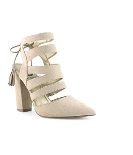 G by Guess Galway Open-Back Block-Heel PU Sand 6.5M Baby Phat Heels