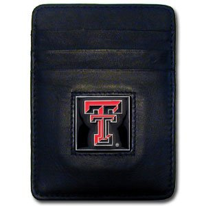 Siskiyou NCAA Texas Tech Red Raiders Leather Money Clip/Cardholder