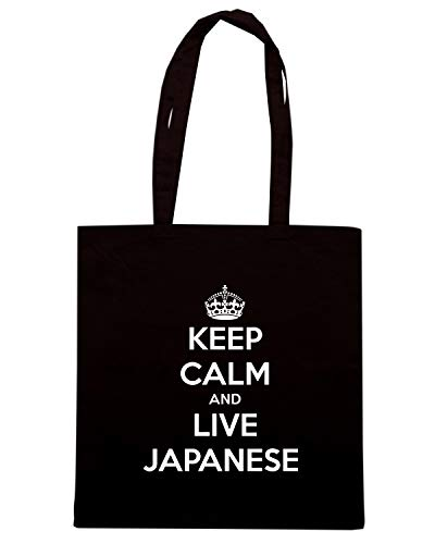 LIVE AND Borsa Shopper CALM Shirt JAPANESE TKC1173 KEEP Speed Nera 8B05qWw