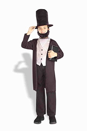 Forum Novelties 77745 Kids Abraham Lincoln Costume, X-Large, Pack of 1 Black -