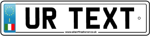 Personalized Italy Numberplate Car Air Freshener