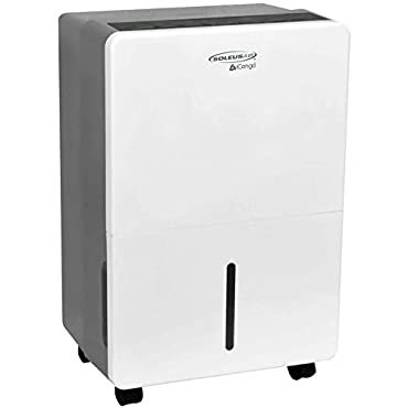 Soleus Air 45-Pint Portable Dehumidifier, Whites (DS1-45E-101)