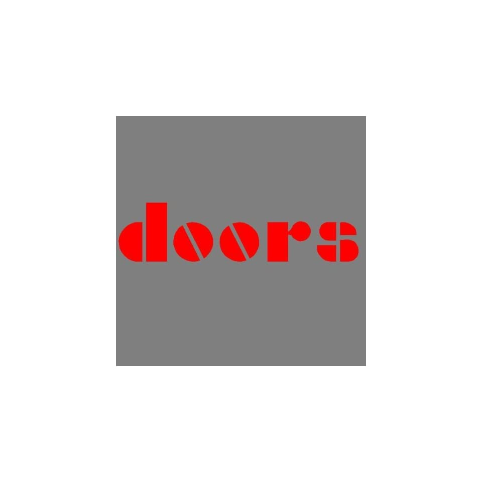 THE DOORS (RED) DECAL STICKER WINDOW CAR TRUCK TRAILER