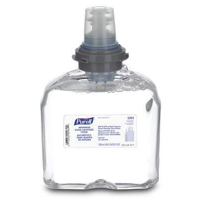 5392-02 Gojo Purell Foam Instant Hand Sanitizer 1200 ml refills Clear 2 per case