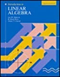 Introduction to Linear Algebra 3 Sub edition by Johnson, Lee W., Riess, R. Dean, Arnold, Jimmy T. (1993) Hardcover
