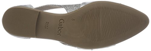 Gabor Fashion, Scarpe con Tacco Donna Multicolore (Silber/Ice)
