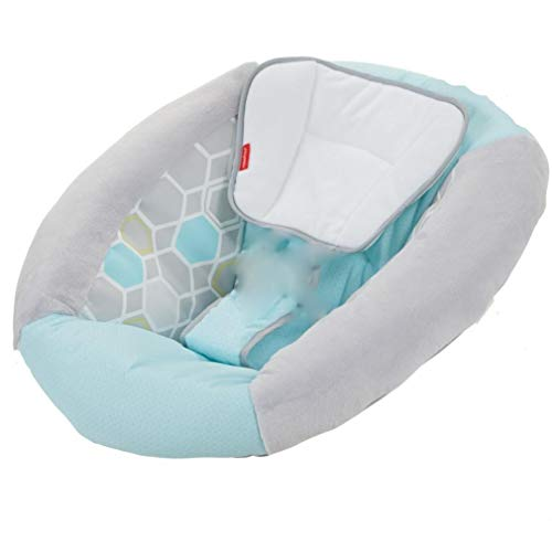 Fisher-Price Revolve Baby Swing #DRF95 – Replacement Seat-Cover/Cushion/Pad – Blue and Gray Hexagon Pattern