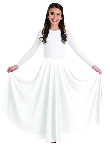Body Wrappers Big Girls CIRCLE SKIRT 0501 -WHITE 8-10
