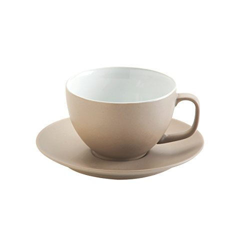 Price & Kensington Matt Taupe Large Cup and Saucer
