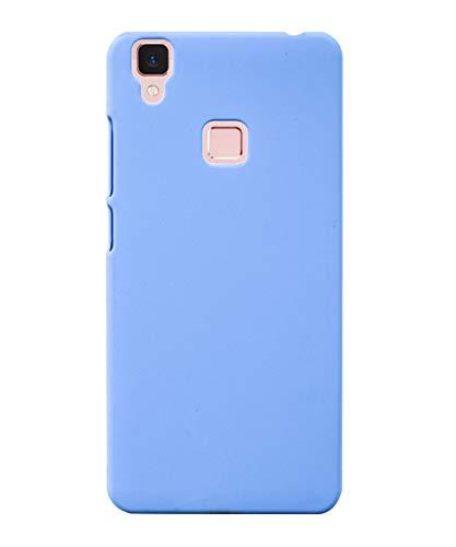 Coverage Plastic Back Cover for Vivo V3   Sky Blue