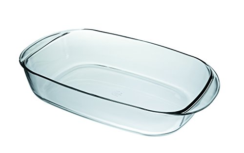 Duralex Made In France Rectangular Baking Dish, 16 by 10-Inch, Clear