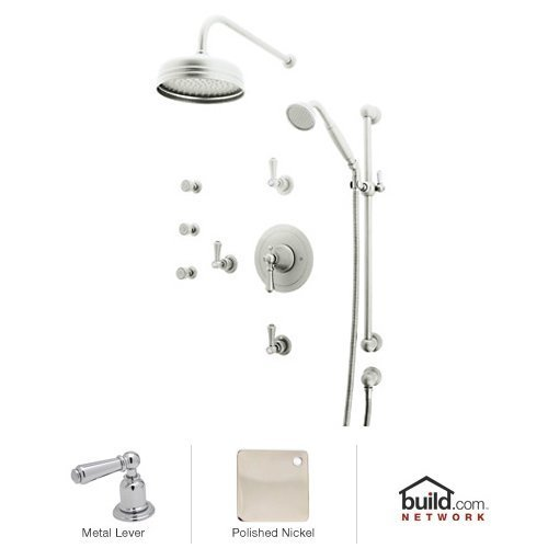 Rohl U.KIT67LS-PN A4209Xmpn Georgian Era Shower System with Thermostatic Valve Trim and Shower Head, Polished Nickel ()