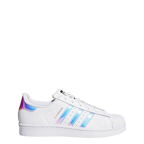 adidas Originals Kids' Superstar, White/White/Metallic Silver, 6.5 M US Big Kid