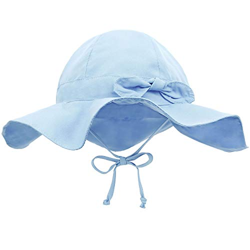 Siero Baby Sun Hats 0-6 Months with UPF 50+ Adjustable Kids Sunhats, Blue