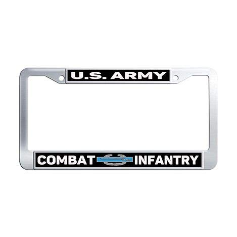 Makoncase US Army Combat Infantry Car License Plate Holder,Stainless Steel License Tag Holder