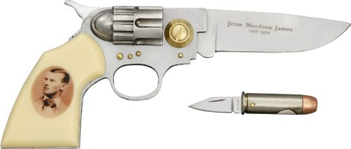 Jesse James Gun and Bullet Knife Set: Frontier Enthusiast's Collectors Item (Collector Knives)
