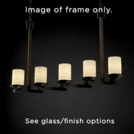 Justice Design CNDL-8787-10-CREM-NCKL CandleAria - Five Light Chandelier, Glass Options: CREM: Cream Shade, Choose Finish: Brushed Nickel Finish, Choose Lamping Option: Standard Lamping - Candlearia Chandelier