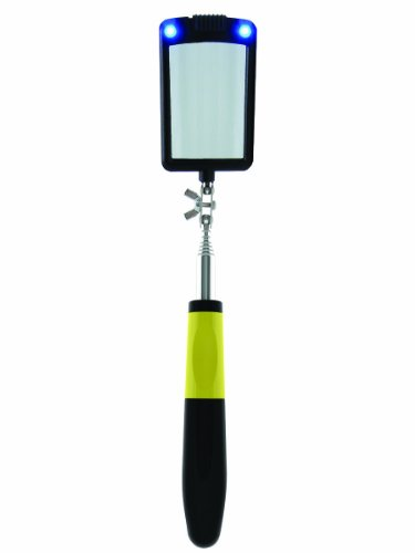 General Tools 80560 Telescoping LED Lighted Inspection Mirror, 360 Swivel for Extra Viewing