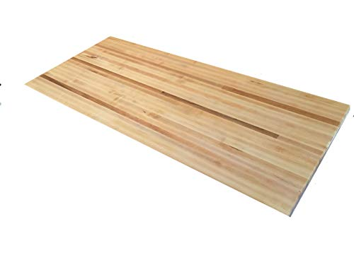 "Forever Joint Hard Maple Butcher Block Wood Countertop - 1.5"" x 26"" x 38"""