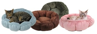 Petmate Puffy Round Cat Bed – Brown, My Pet Supplies