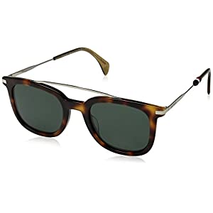 Tommy Hilfiger Women's Th 1515/s Square Sunglasses, Havana/Green, 49 mm