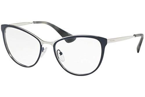 Prada Cinema PR55TV Eyeglass Frames U6R1O1-54 - Blue/Silver PR55TV-U6R1O1-54 ()