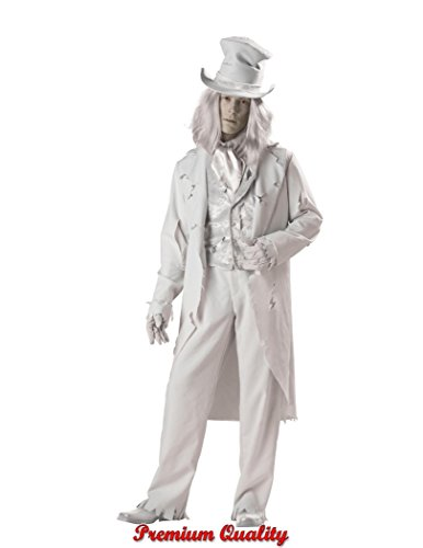 InCharacter Costumes Men's Ghostly Gent Costume, Gray, Medium