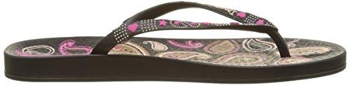Ipanema Anat Lovely Vii Fem - Sandalias de dedo Mujer Negro (Black/Pink)