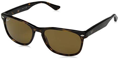 Ray-Ban RB2184 Square Sunglasses, Striped Tortoise/Polarized Crystal Brown, 57 mm (Rote Ray-ban Sonnenbrillen)